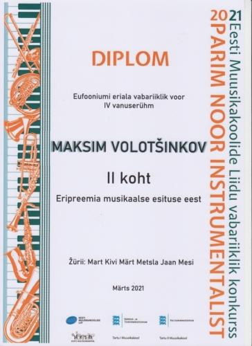M.Volotsinkov Noor instrumentalist 2021